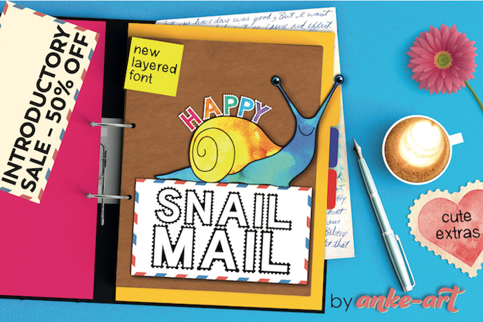 Happy Snail Mail DEMO Font poster