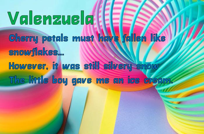 Valenzuela Font poster