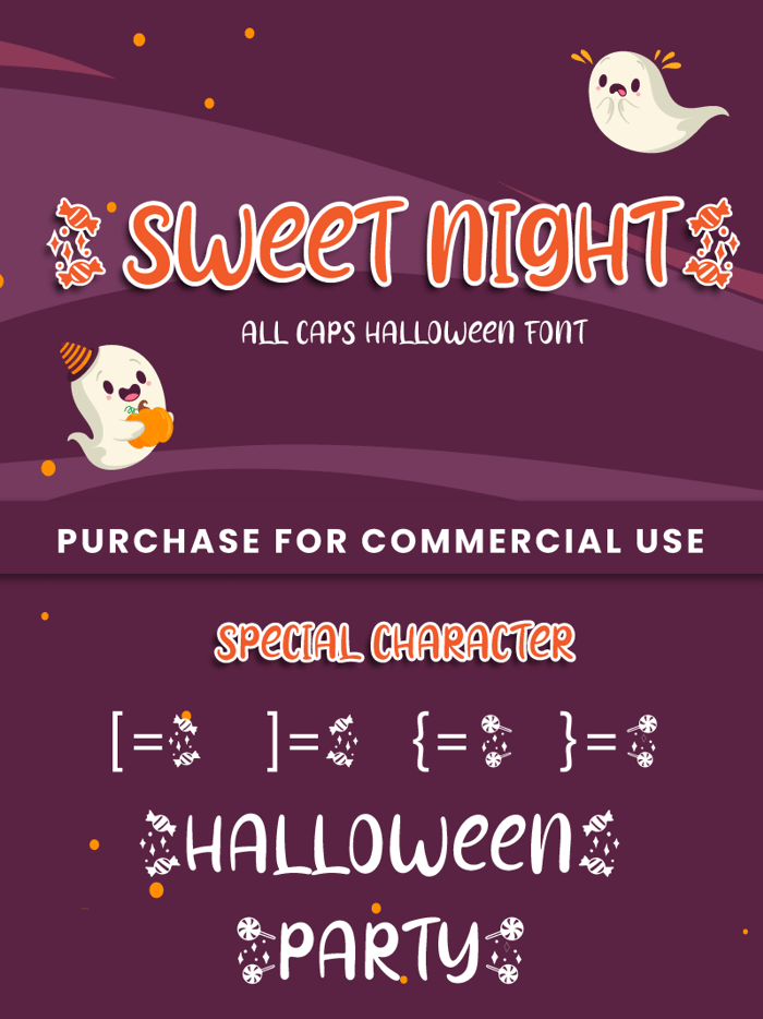 Sweet Night Font poster