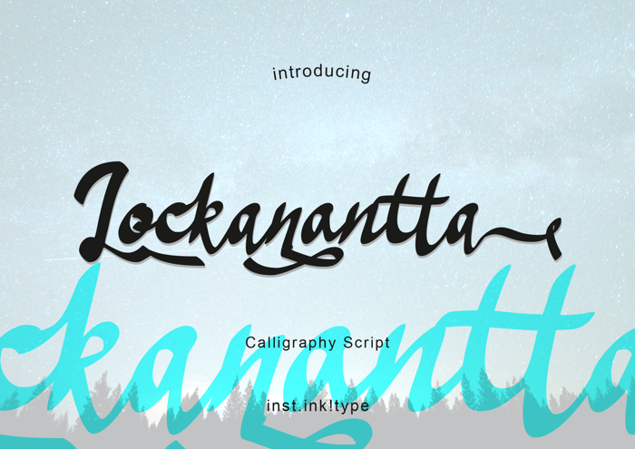 Lockanantta Font poster