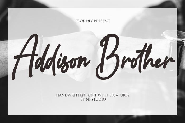 Addison Brother Font poster