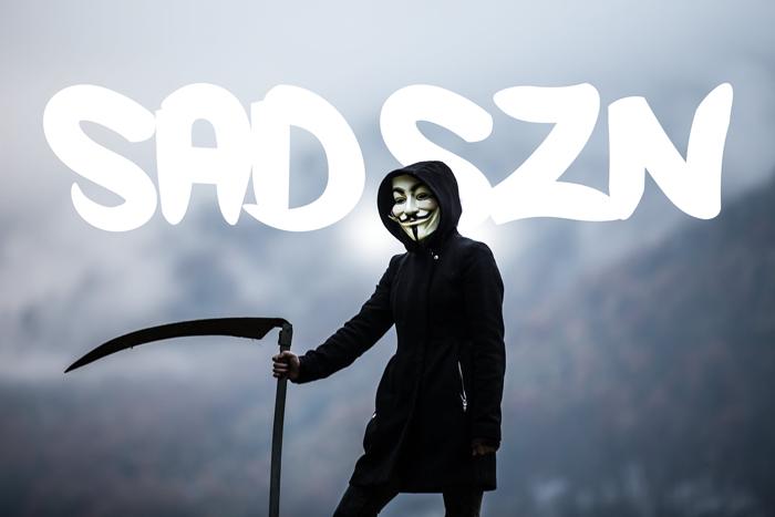 Sad Szn Font poster