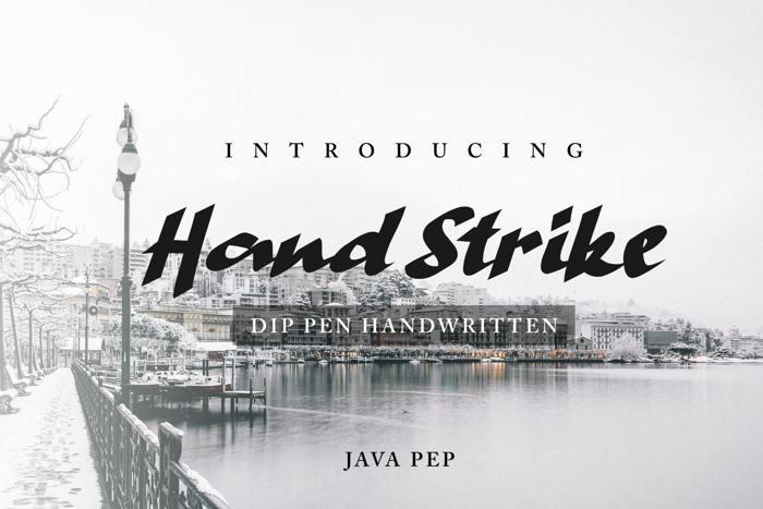 Hand Strike Font poster