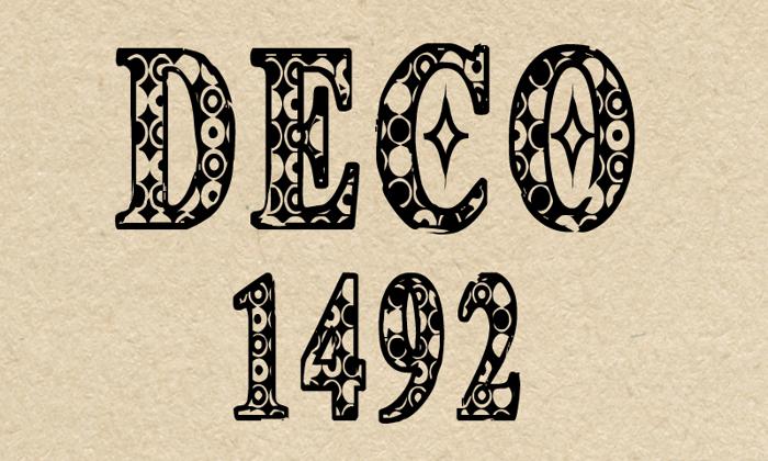 CF Deco 1492 Font poster