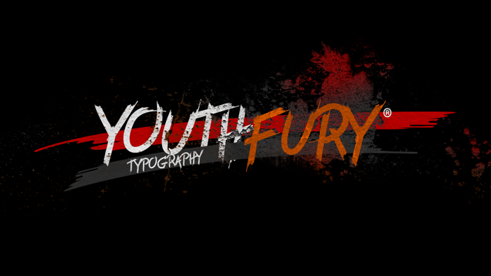Youth Fury Font poster