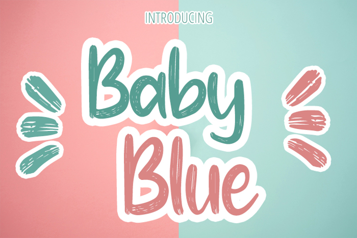 Baby Blue Font poster