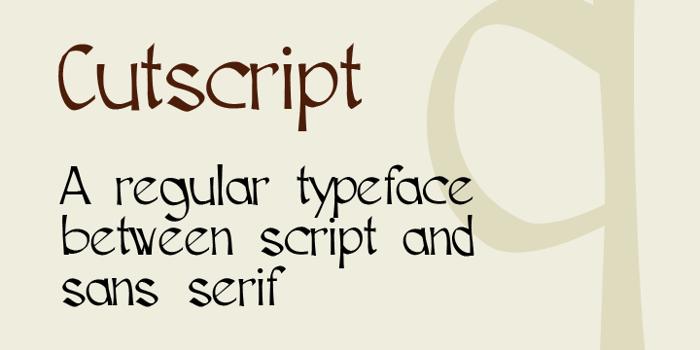 Cutscript Font poster