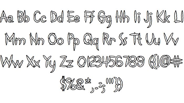 Spliffs Font poster