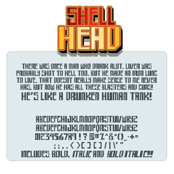 shellhead Font poster
