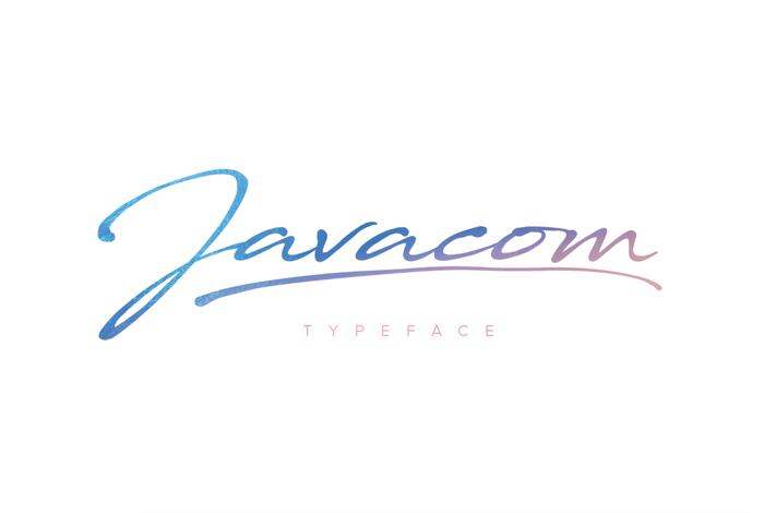 Javacom Font poster