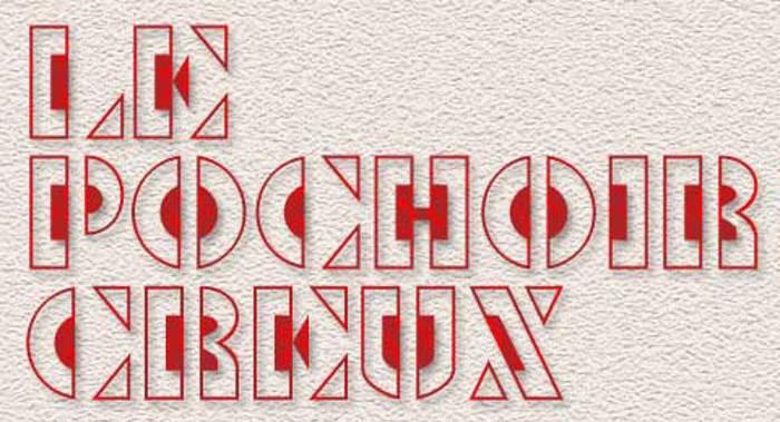 Le Pochoir Creux Font poster