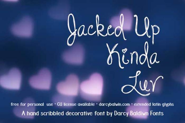 DJB Jacked Up Kinda Luv Font poster