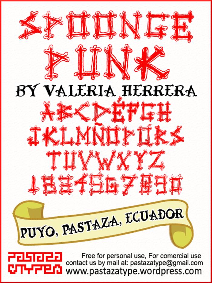 Spoonge Punk Font poster