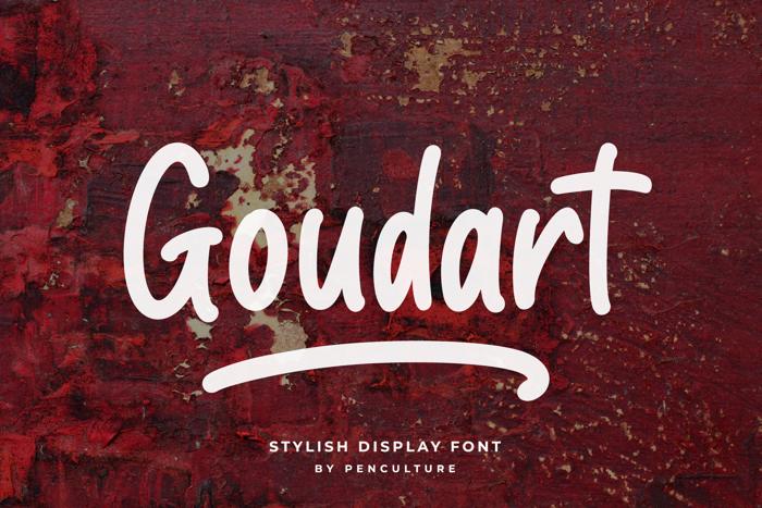 Goudart Font poster
