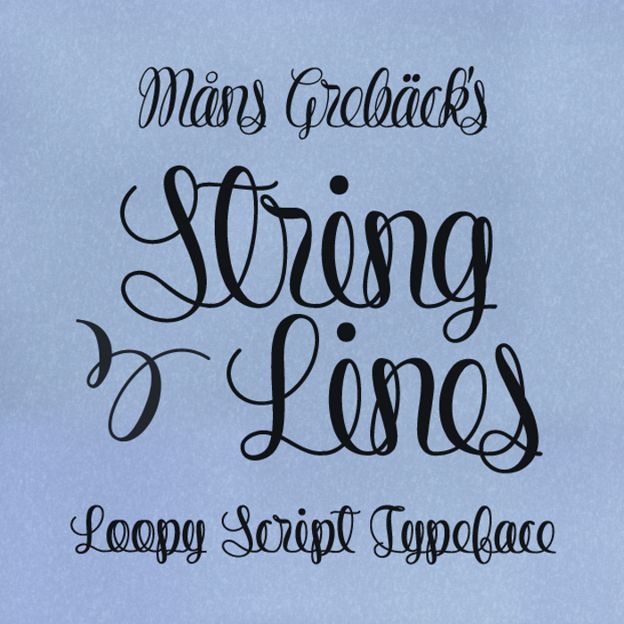 String Lines Font poster