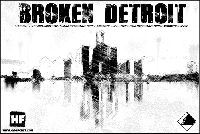 Broken Detroit Font poster