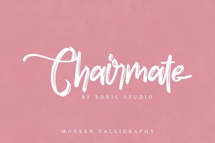 Chairmate Font poster