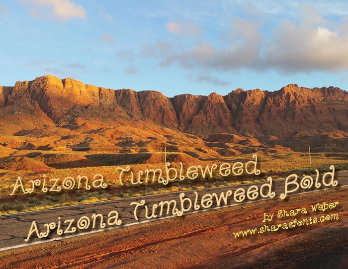 Arizona Tumbleweed Font poster