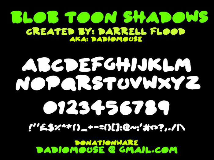Blob Toon Shadows Font poster