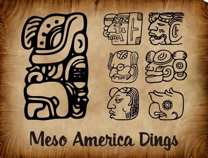 MesoAmerica Dings Font poster
