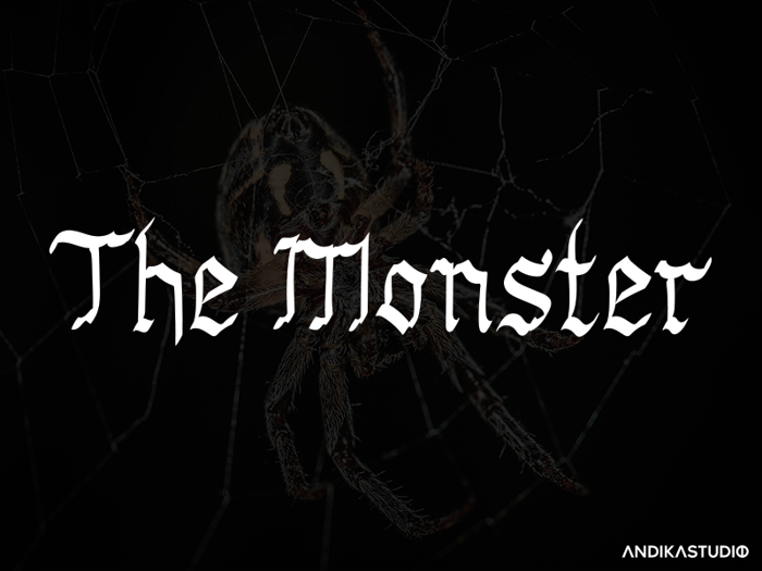 The Monster Font poster