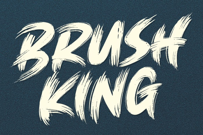 Brush King Font poster