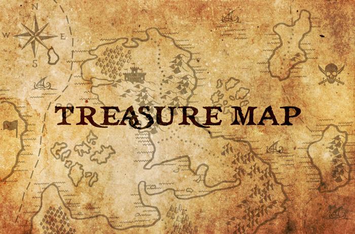 Treasure Map Font poster