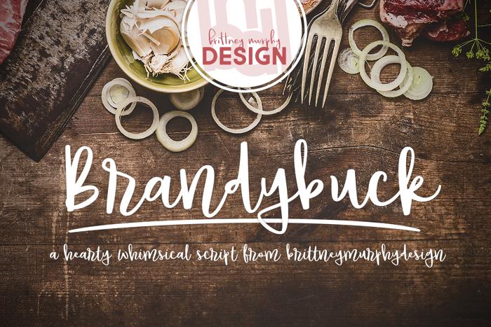 Brandybuck Font poster