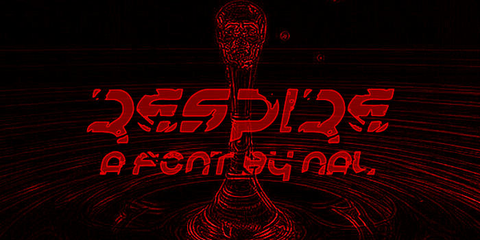 Respire Font poster