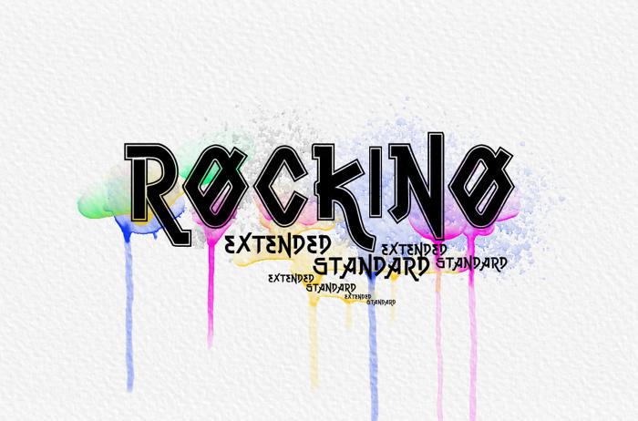 Vtks Rockino V2 Font poster