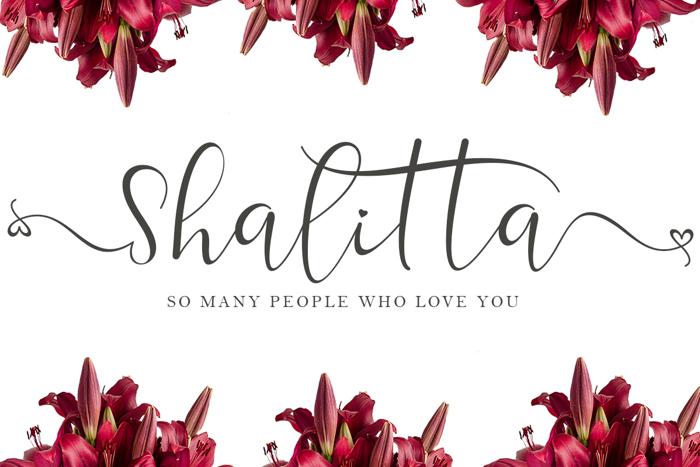 Shalitta Font poster