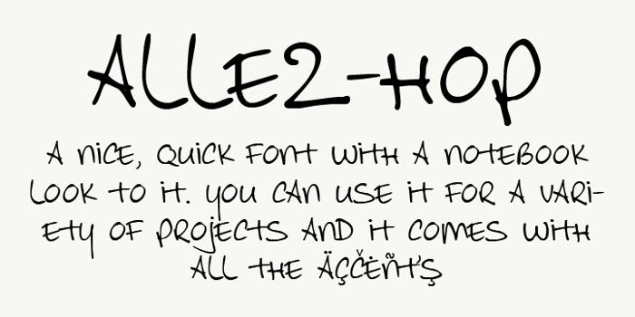 Allez Hop Font poster