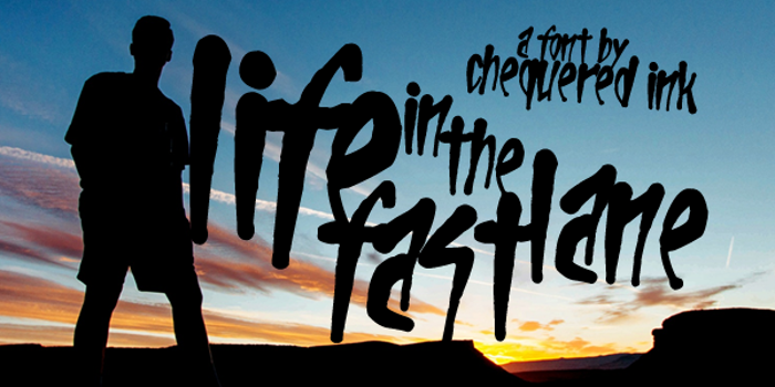 Life In The Fast Lane Font poster