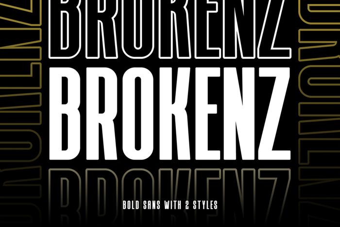 BROKENZ Font poster
