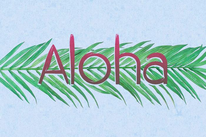 Aloha Font poster