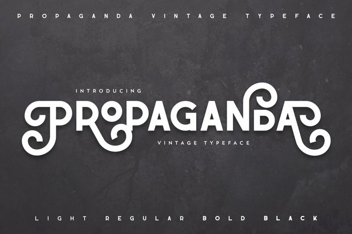 Propaganda Font poster