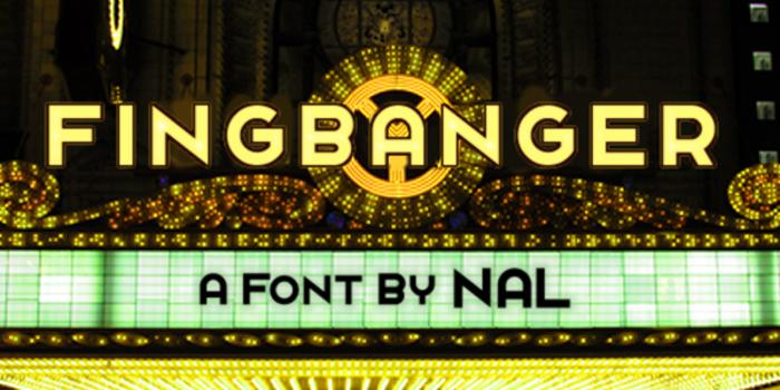 Fingbanger Font poster