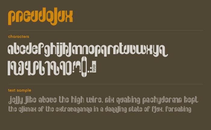 Pseudolux Font poster