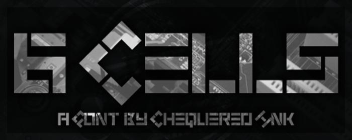 6 Cells Font poster