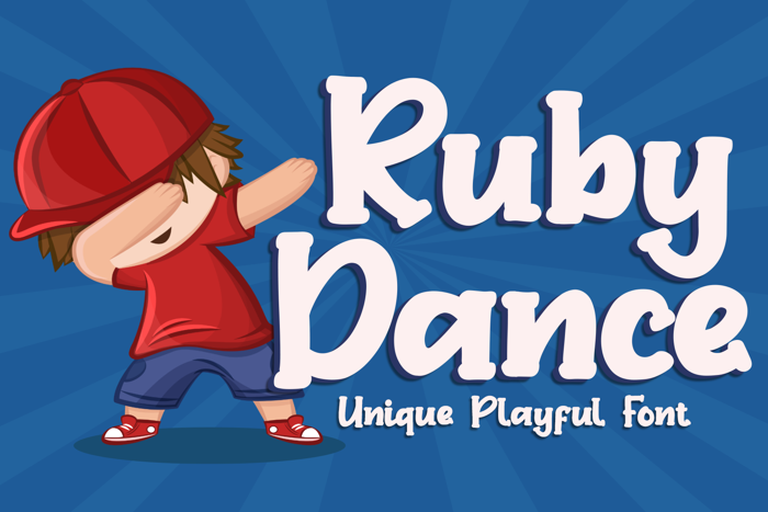 Ruby Dance Font poster