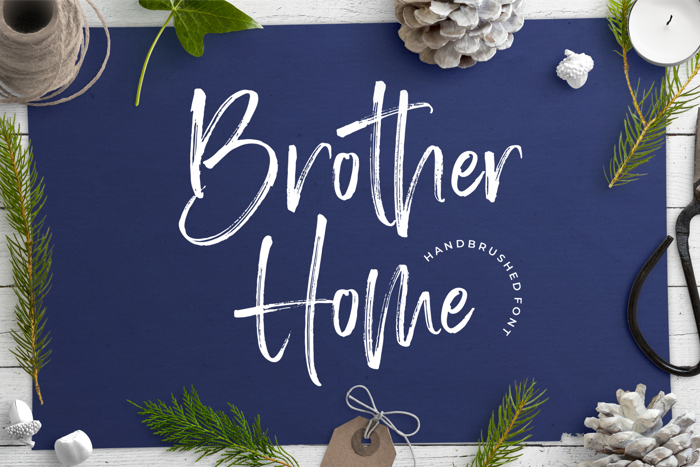 Brother Home Font poster