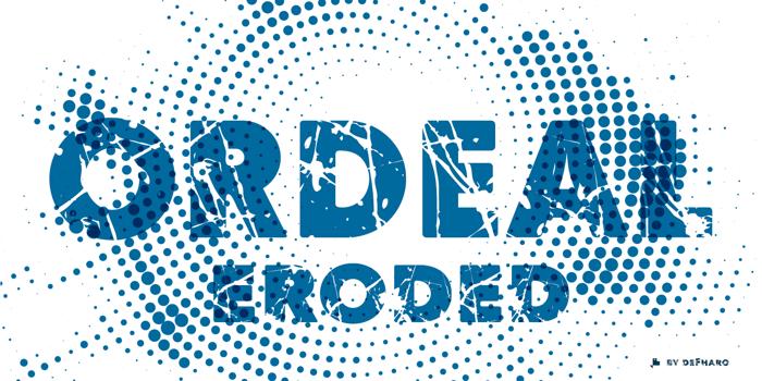 Ordeal Eroded Font poster