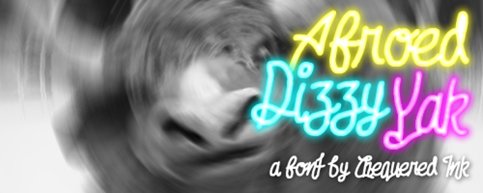 Afroed Dizzy Yak Font poster