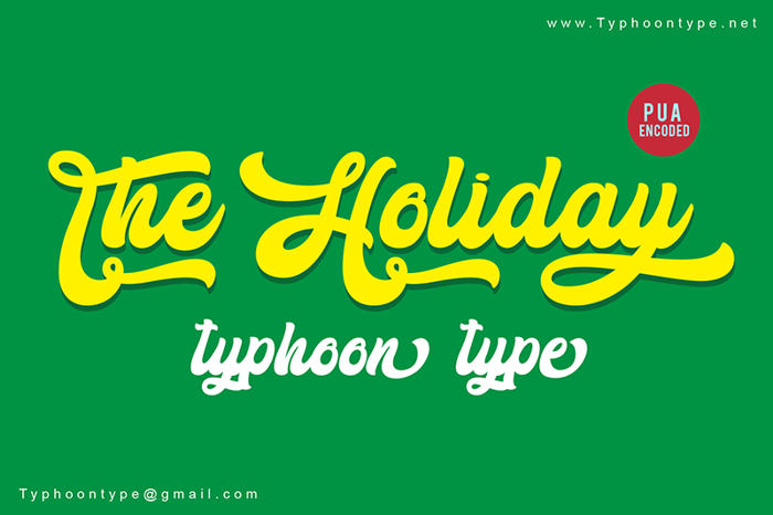 The Holiday Font poster