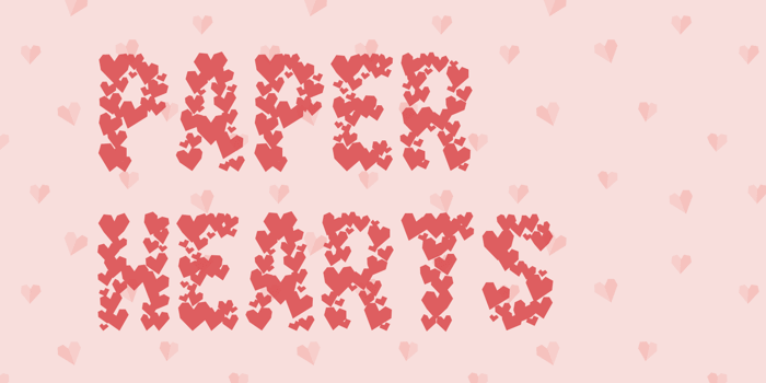 Paper Hearts Font poster