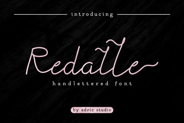 Redalle Font poster