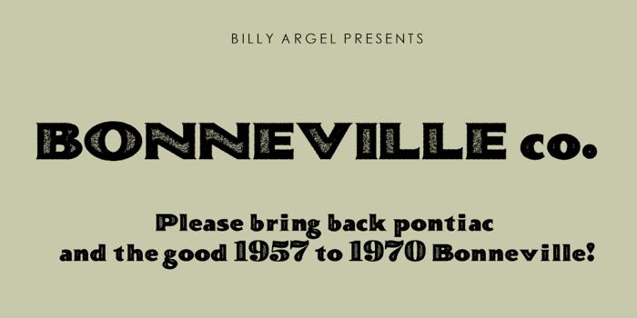 BONNEVILLE co. Font poster