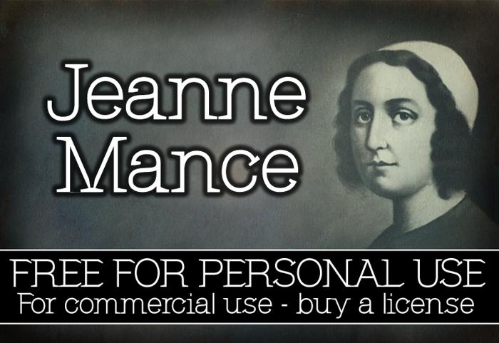 CF Jeanne Mance Font poster