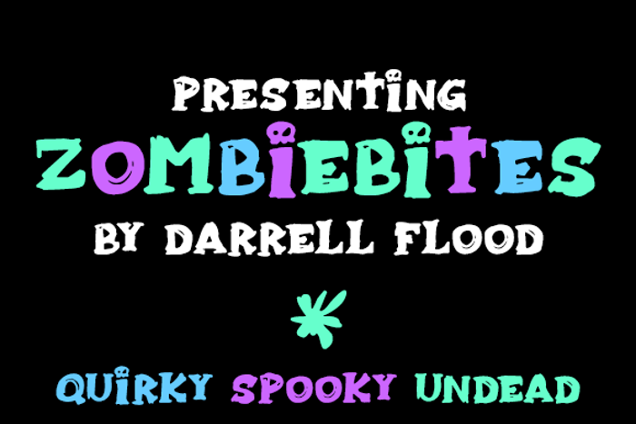 Zombiebites Font poster