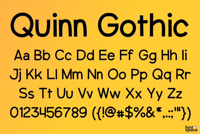 Quinn Gothic (Old Version) Font poster